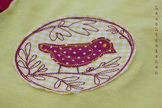 """Magic Circle with Bird No.1"" from the ""Summer Birdies"" Collection at www.AnjaRiegerDesign.com here: http://www.anjariegerdesign.com/embroidery-designs/birds.html #embroidery #DIY # embroidery designs #crafts #AnjaRieger #magiccirclewithbird"