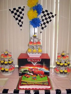 """Photo 11 of 22: inspired by the """"Cars"""" movie / Birthday """"Cars-themed birthday for a 1-year old and 3-year old""""   Catch My Party"""