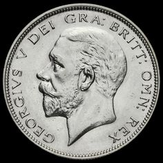 1932 George V Silver Half Crown, Scarce, GVF