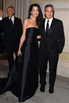 With George Clooney at a gala in Florence - See more on ELLE