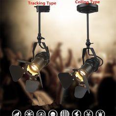 Retro American COB Track Light Industrial Clothing Guide Lighting Bar Store Hall Lounge Minimalist Vintage Rail Pole Spot Lamps
