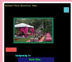 Backyard Party Decoration Ideas 102113