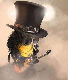 It's Friday, time for some Rock n' Roll Slash Minion. #Minions #Slash #rocknroll #Friday