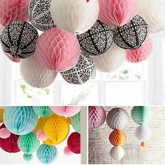 Wedding Décor 4 pcs 8 Inch (20cm) Honeycomb Tissue Paper Flower Ball for Party Decoration(More Colors) 2016 - $5.99