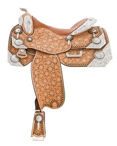 Harris saddle w/ a fancy floral pattern.  I love the inlaid ostrich too, wow!