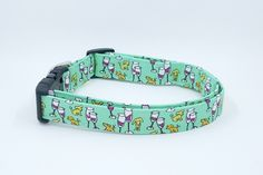 Everything is Fine with Puppies and Wine Dog Collar on Mint Green by Maltipaws on Etsy