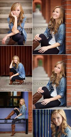 Senior session-- classic denim