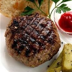 Bbq Grilling, Asian Pork Burger, These Ground Pork Burgers With Apple And Bell Pepper Are Given An Asian Flair With Teriyaki Sauce And Ground Ginger. Asian Pork Burgers Recipe, Burger Recipes, Grilling Recipes, Pork Recipes, Asian Recipes, Cooking Recipes, Bbq Meals, Dinners, Pork Meals