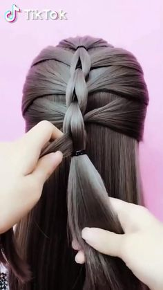 Step By Step Hairstyles, Easy Hairstyles For Long Hair, Braids For Long Hair, Girl Hairstyles, Braided Hairstyles, Frozen Hairstyles, Hairstyles Videos, Hair Up Styles, Medium Hair Styles