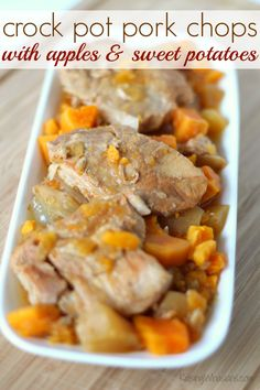 Pork Chops With Apples, Onions, And Sweet Potatoes Recipe — Dishmaps
