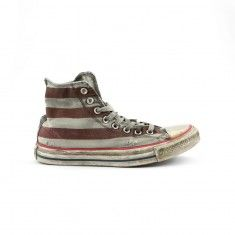 CONVERSE - Sneakers limited edition in tela di cotone.  Tessuto vintage.
