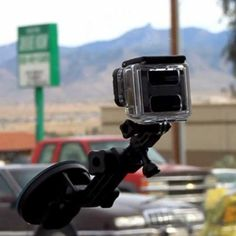 Drive with a GoPro. Get your Windshield Suction Cup today: http://www.ebay.com/itm/Car-Window-Windshield-Glass-Suction-Cup-Mount-GoPro-Hero-1-2-3-3-4-/331529681085?pt=LH_DefaultDomain_0&hash=item4d30b578bd