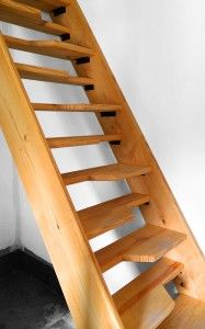 An Alternating Tread Stair Provides Compact Access To High Spaces. By  Eliminating Every Other Tread