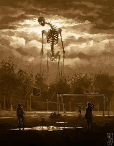 """Visual Necromancy"": The Amazing Art By Boris Groh – Design You Trust Foto Fantasy, Dark Fantasy Art, Fantasy Artwork, Arte Horror, Horror Art, Fantasy Creatures, Mythical Creatures, Digital Art Illustration, Monster Illustration"