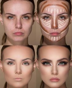 24 Perfect And Best Contour Highlight Makeup Tutorial For Beginners – Page 6 of … – Make Up Time What Is Contouring, Best Contouring Products, Face Contouring, Contouring And Highlighting, Beauty Products, Highlighter Makeup, Contour Makeup, Beauty Makeup, Eye Makeup