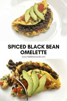 spiced black bean omelette pin