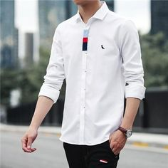 Formal Shirts For Men, Casual T Shirts, Men Casual, Casual Outfits, Mens Designer Shirts, Shirt Embroidery, Kurta Designs, Boys Shirts, Fashion Branding