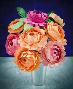 Step by Step Easy Peony Paper Flower Tutorial
