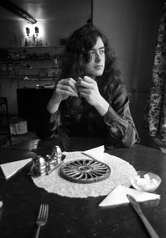 Jimmy Page photographed by Barrie Wentzell, 1970.