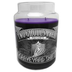 Welcome to the Graveyard Shift! Our new handmade soy candles will get you through those daunting evenings. While you burn away the night you will uncover a haunting mystery pin. No. 001 - Gho...