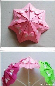 Бумажные зонтики в технике оригами (6) (452x700, 183Kb)