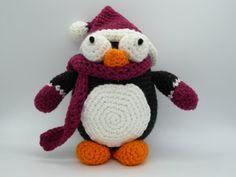 Christmas Penguin, Amigurumi Penguin, Crochet Christmas Penguin, Winter Penguin, Penguin Crochet Toy, Christmas Gift, Stuffed Penguin Toy