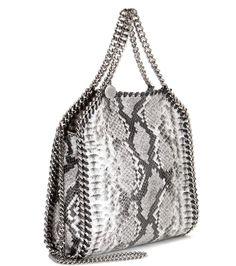 Falabella Mini Mock Python grey shoulder bag