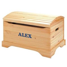 Personalized Handcrafted Captain's Chest by Little Colorado Honey Oak $214.99