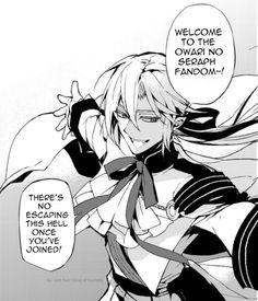 To all people who just joined the Owari no Seraph fandom Vampires, M Anime, Anime Meme, Anime Art, Mikaela Hyakuya, Anime Group, Seraph Of The End, Owari No Seraph, Close My Eyes