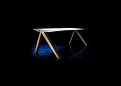 Eigen ontwerp gelanceerd onder het label a-LEX.Deze tafel is op reis. Volg de reis op; www.a-lex.nl