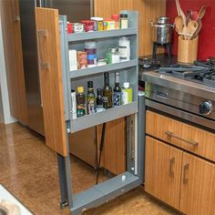 Telescopic Cupboard Bar Set Refrigerator Cabinet 26-44cm Brown Caravan Motorhome
