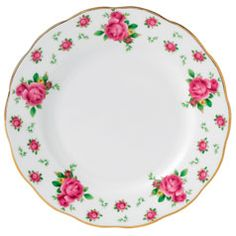 Royal Albert New Country Roses White Formal Vintage Bread
