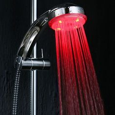 I need a really nice shower head.  Preferrable one with two heads and one detachable shower head.  If you can find one that changed colors all the better!