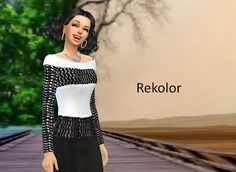 Sims 4- rekolory: Sweter