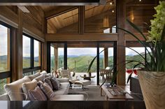 Architecture. Tremendous Modern Mountain Homes For You To Build Perfect Residence Design Ideas. Remarkable Modern Mountain Homes By David Guerra Architecture And Interior Showcasing Wooden House Architecture With Massive Glass Window And Tranquil Living Space Plus Mountain Background View Ideas. This house was created using natural wooden interior and padded chairs and comfortable. Windows are used surrounding the home to make an invisible divider between the house's interior and the ...