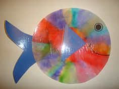 Coffee filter fish.Coffee Filter Fish- Color coffee filter with markers and spray water on lightly using a spray bottle. Colors will blend. When dry, add paper finds and an eye and mouth.
