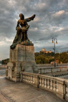 Umberto I bridge, Turin/Torino, Piemonte, Italy