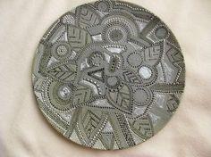 Hand painted zendala style decorative plate by ElenaPrikhodkoKnapp, $175.00