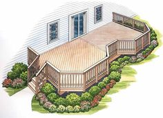 Eplans Deck Plan - Twice the Fun in the Sun from Eplans - House Plan Code HWEPL74894