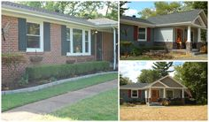 Before and after... Ranch style home into craftsman style home!!