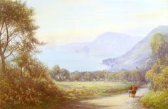 Sidmouth from Salcombe Hill www.baronfineart.com