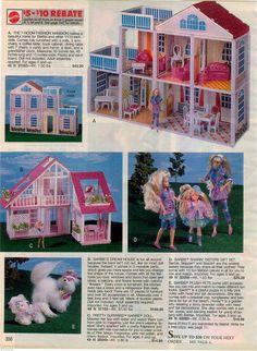 1992 Advertisement 9 PG Barbie Neptune Marine Mermaid Rap N Roll Empress Mansion | eBay