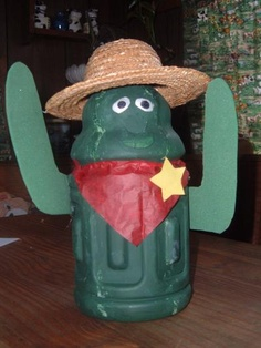 gatorade bottle cactus - cinco de mayo craft lol