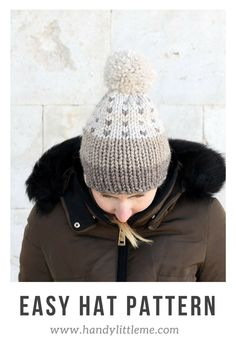 Hat knitting patterns free and easy