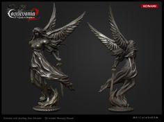 Angel warrior statue