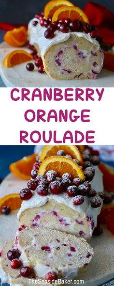 Cranberry Orange Roulade perfect for #thanksgiving or #christmas #cranberryrecipe