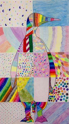 Mural de Textures. 5è Primària. Escola Les Alzines. Institució Familiar