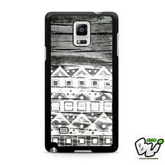 Apple Aztec White Wood Samsung Galaxy Note 4 Case