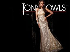 Prom 2013 Sneak Peek  Paris by Tony Bowls Style Sequin prom dress with  crystal neckband 6885b136b002
