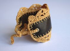 Crochet jewelry bracelet | Flickr , made by CocoFlower